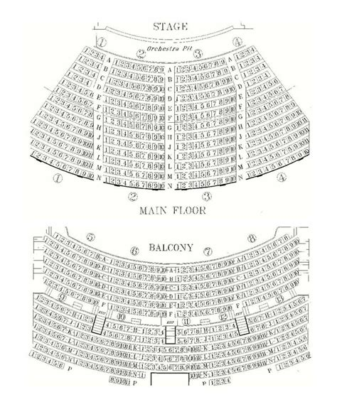 Sony Centre Floor Plan by Athenaeum Theatre Main Stage Seating Chart Theatre In