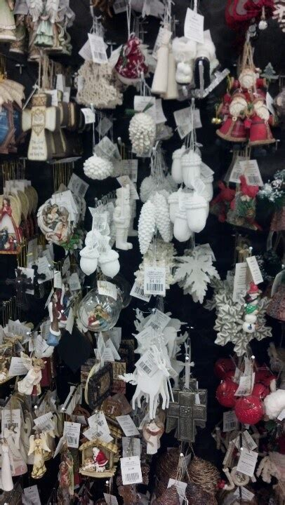 white christmas ornaments at hobby lobby christmas
