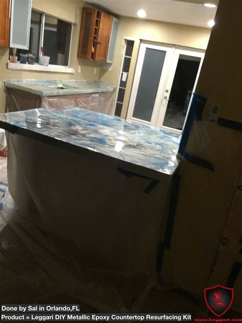 Diy Countertop Refinishing by 1000 Images About Leggari Products Diy Metallic Epoxy