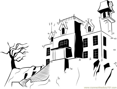 printable dot to dot scooby doo scooby haunted house dot to dot printable worksheet