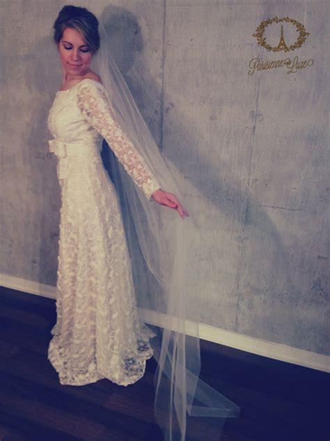 Floor Length Veil Ivory by Floor Length Veil Bridal Tulle Veil Hairpiece