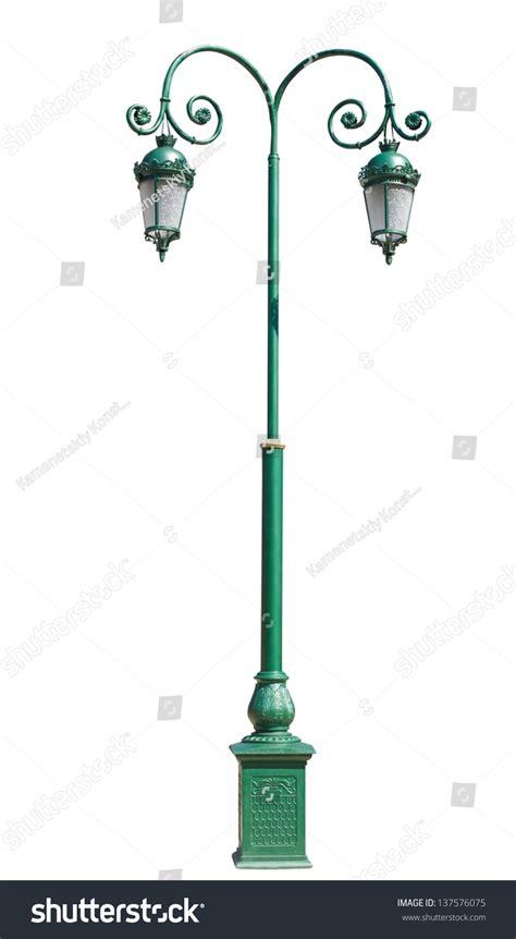 electric street light pole lpost electric street light isolated on stock photo