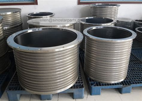 screen baskets stainless steel wedge wire slotted bar screen basket for pressure screen