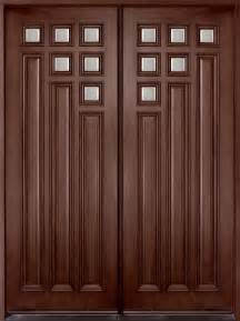 Solid Wooden Front Doors Entry Door In Stock Solid Wood With Mahogany Finish Contemporary Series Model