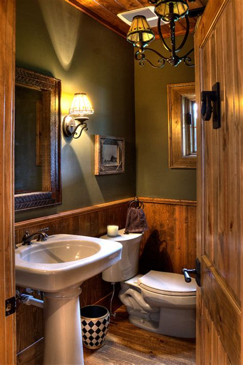 small rustic bathroom ideas lower whitefish lake 3 bath