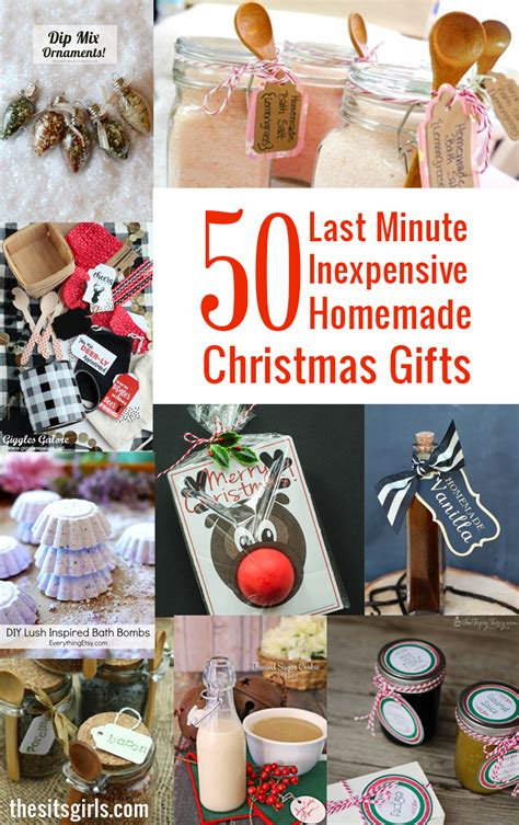 easy christmas gifts to make 50 last minute inexpensive gifts