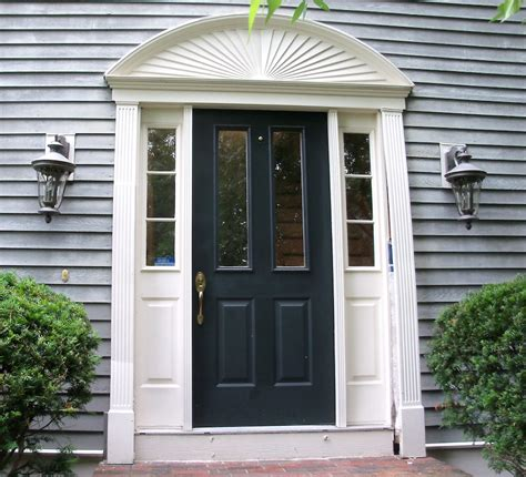 Front Door Moulding Kit Front Door Trim Kit Front Entry Door With Fypon Door Trim Kit Home Construction Improvement