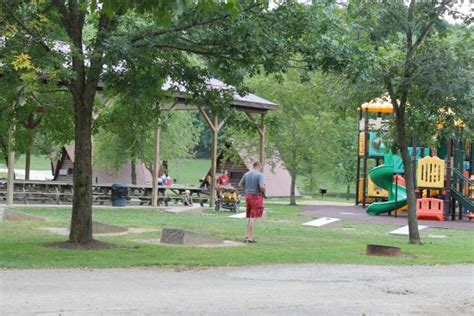 playground immediately out front of cabins picture of