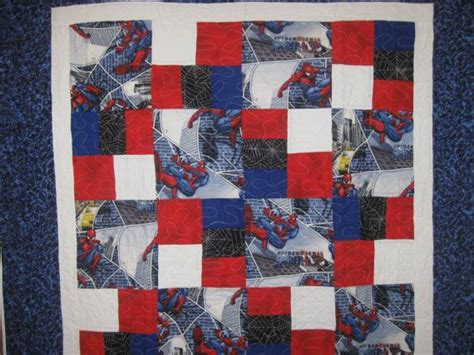 pattern for spiderman quilt spiderman quilt by gamedayquilts on etsy 160 00 quilts