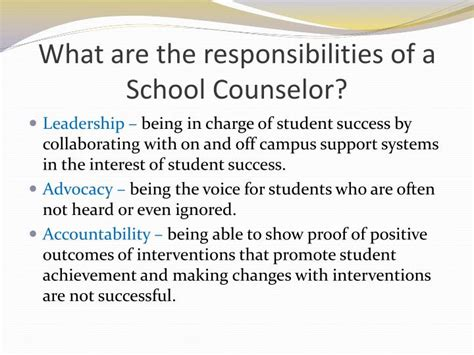 school counselor responsibilities ppt school counselors powerpoint presentation id 1921118