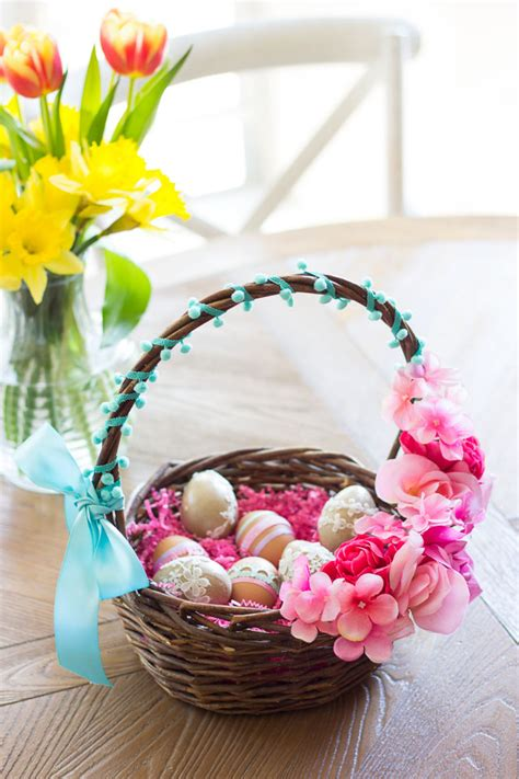 diy easter basket ideas thrifty diy floral easter baskets design improvised