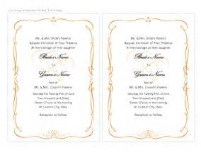 Wedding Invite Word Template by Invitation Templates Microsoft Word Templates