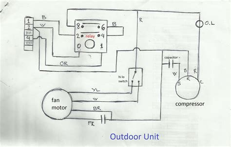ac condenser wiring diagram as well wiring diagram with