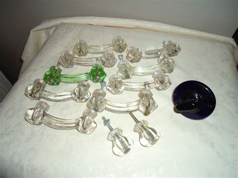 Vintage Glass Drawer Pulls by Vintage Liberty Glass Drawer Pulls Handles From Sweetcandy