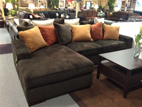 chocolate corduroy sectional sofa ashley chocolate corduroy sectional sofa starting at only