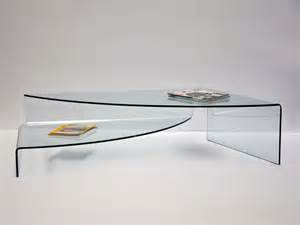 table basse de salon en verre courb 233 spectaculaire