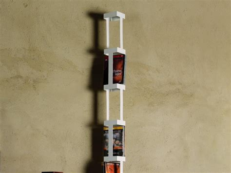 porta cd girevole porta dvd totem girevole tower f in acciaio bianco x 77 dvd