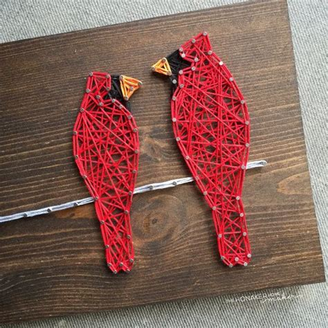 Bird String - made to order string two cardinals on a wire sign dr
