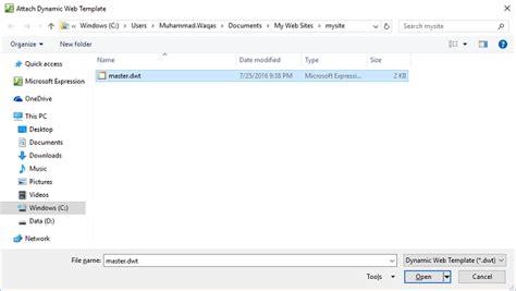 Microsoft Expression Web Dynamic Web Template Microsoft Expressions Templates