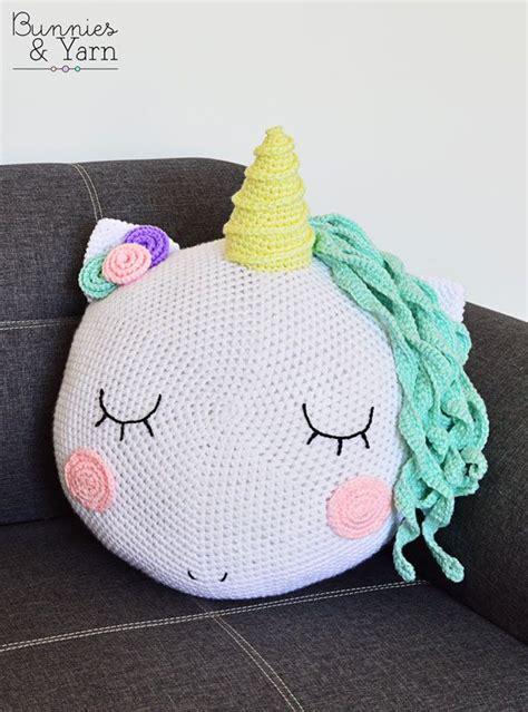 Unicorn Cushion Pattern | crochet pattern unicorn pillow cushion bunnies
