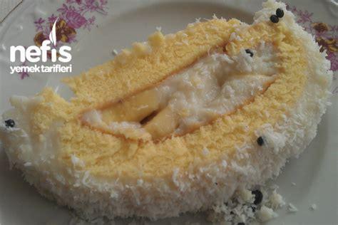 cevizli rulo pasta icindekiler hindistan cevizli rulo pasta hindistan hindistan cevizli muzlu rulo pasta nefis yemek tarifleri