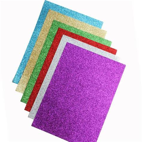 Glitter Paper Craft - glitter paper a4 80gsm pk12 assorted colours bright ideas
