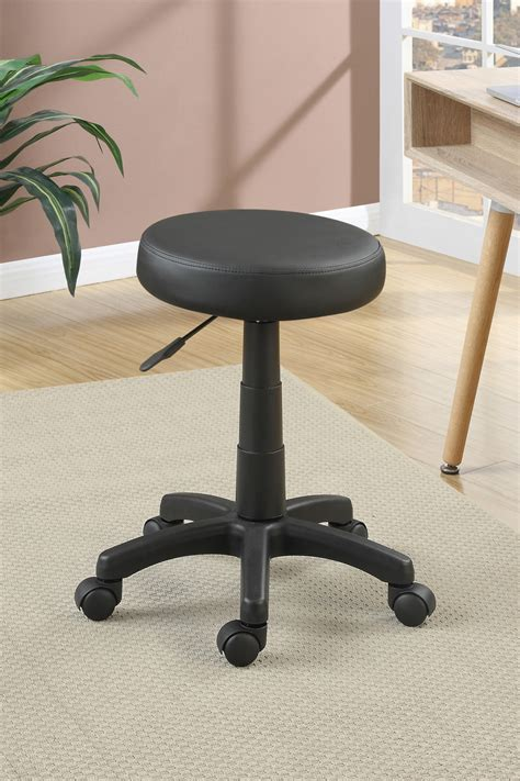 F1601 / Cat.18.p61   OFFICE CHAIR ROUND SEAT BLACK