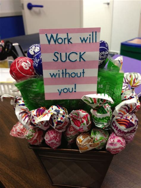 Gift Ideas For Co Workers - lollipop goodbye gift gifts retirement