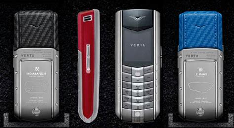 race inspired vertu mobile phones