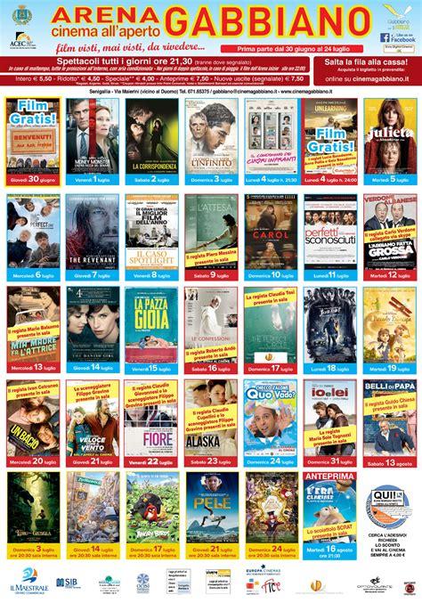 cinema gabbiano programmazione una grande stagione estiva all arena gabbiano di