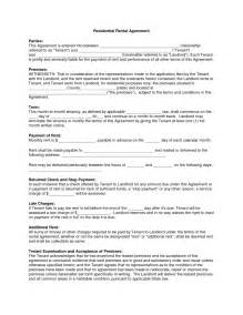 free rental agreement template free blank residential lease agreement text template