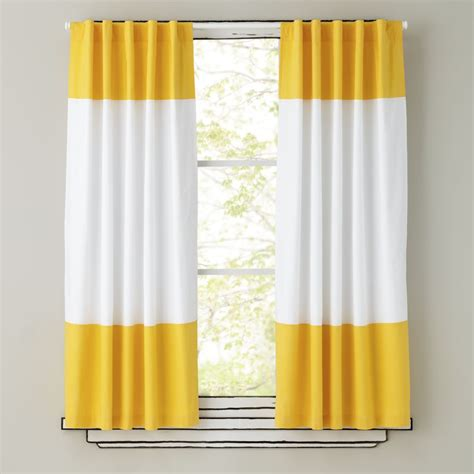 yellow drapery panels kids curtains yellow and white curtain panels the land