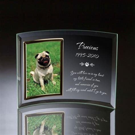 memorial frame pet memorial curved glass vertical 4x6 photo frame