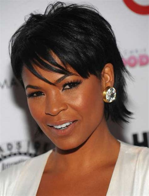 short hair cut for african women with round face short hairstyles for round faces beautiful hairstyles