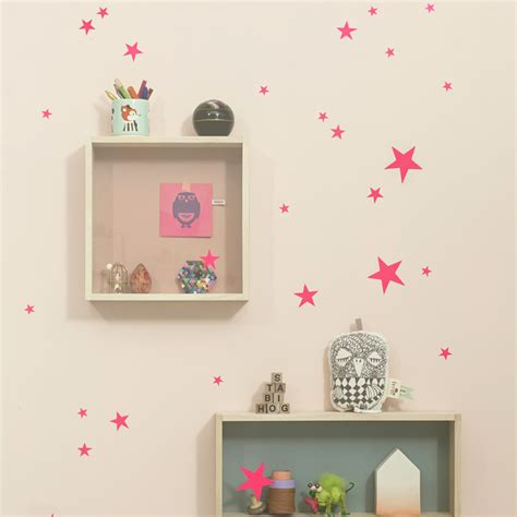 ferm wall stickers mini wall stickers neon pink by ferm living