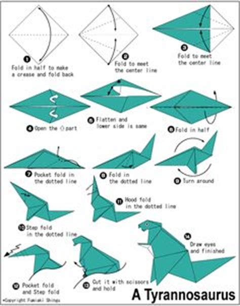 How To Make An Origami T Rex - 1000 images about free origami patterns on