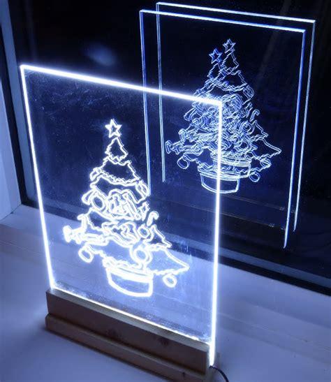 how to make acrylic led christmas tree edge light sign