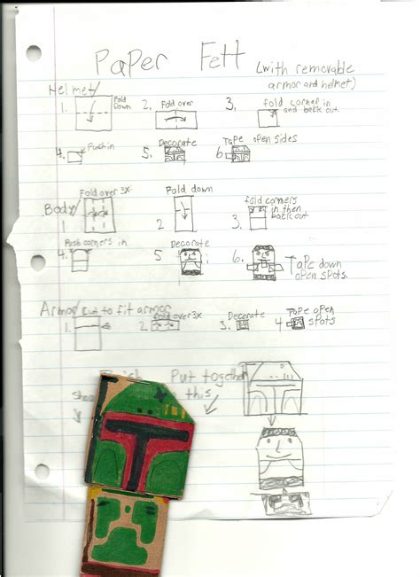 How To Make Origami R2d2 Finger Puppet - sf jordan s boba fett with instrux origamiyoda