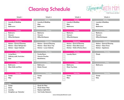 cleaning list template search results calendar 2015 search results for cleaning schedule template calendar