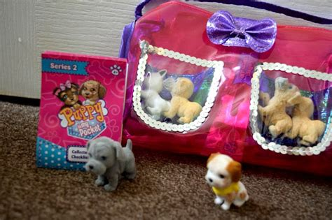puppy in my pocket blind bag mummy and the chunks review puppy in my pocket carrier blind bags
