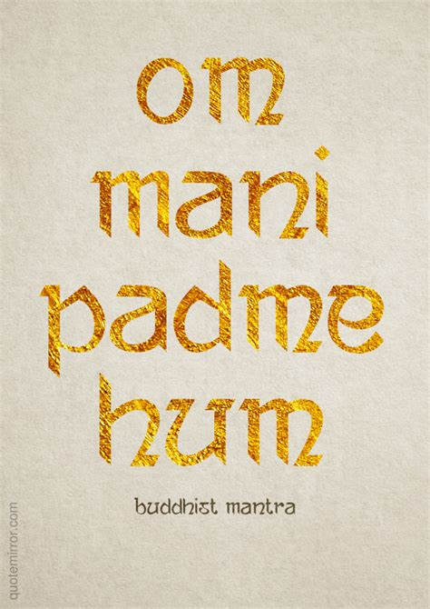 om mani padme hum quote mirror