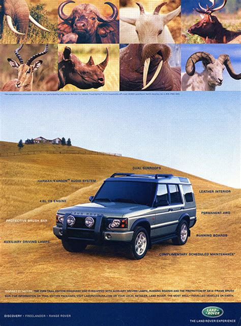 vintage land rover ad 2004 land rover discovery ad classic cars today online
