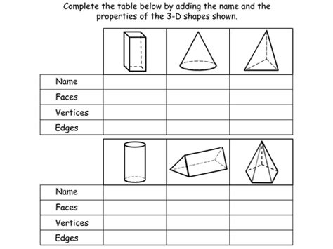 2d and 3d shapes ks2 worksheets 3 d shapes year 3 interactive powerpoint and worksheets