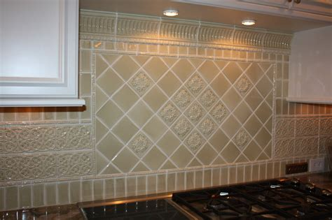 Kitchen Ceramic Tile Backsplash Glazed Porcelain Tile Backsplash Traditional Kitchen Cleveland By Architectural Justice