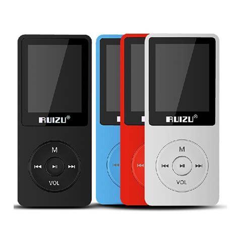 Mp3 Player Ruizu X02 original ruizu x02 mp3 8gb untrathin protable mp3 player 80hours play player with 1 8inch