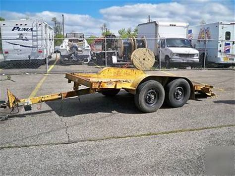 butler lt ta  ton  tilt bed tagalong trailer