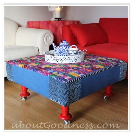 fabric covered ottomans diy own fabric covered ottoman