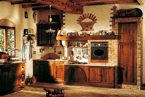 large rustic country style kitchen decoration with old italian kitchen design and distribution http