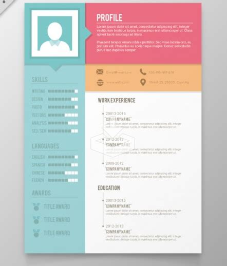 Colorful Resume Templates Free by 35 Free Creative Resume Cv Templates Xdesigns