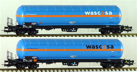 ls models set of 2 pressurized gas tank cars wascosa